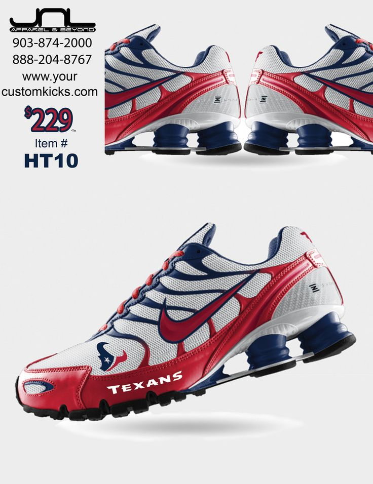 Custom Houston Texans Nike Turbo Shox