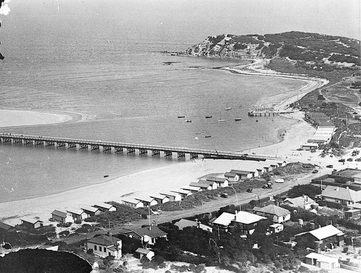 Historical shot of Barwon Heads, from Museum of Victoria collection.