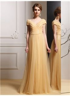 Wedding Party Glamorous & Dramatic A-line Summer Spring Evening Floor-Length Natural Dress