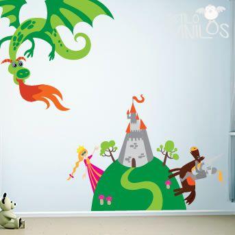 Vinilos super originales para decorar las paredes del dormitorio de tu hijo http://www.guiapurpura.com.ar/vinilos-decorativos-para-chicos