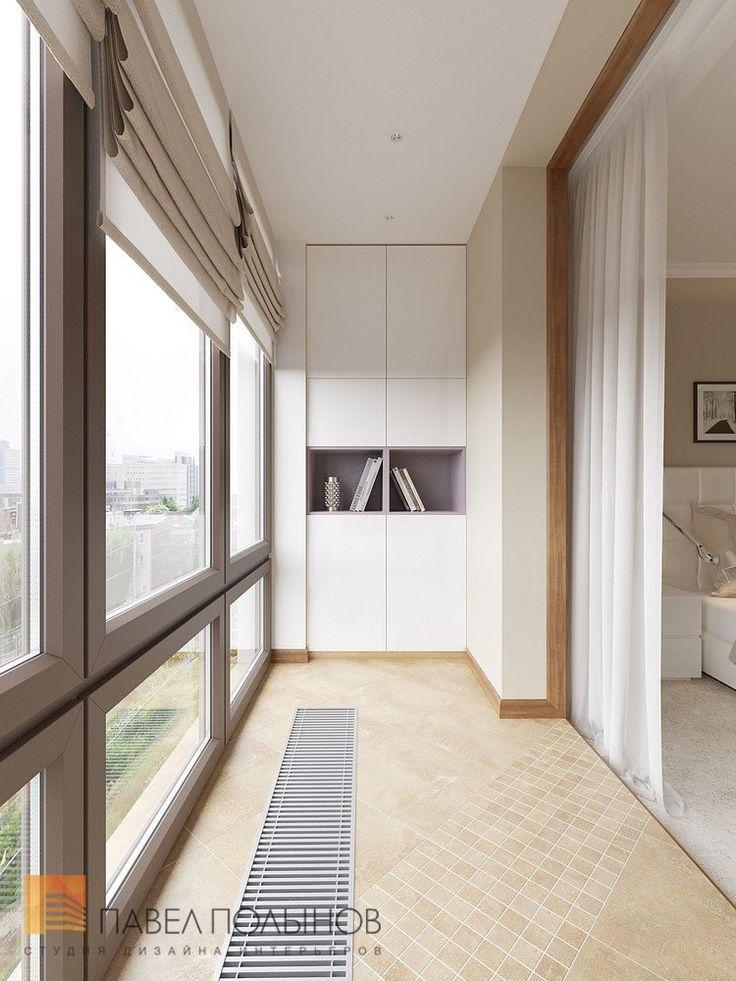 Интерьер балкона (лоджии) в квартире в ЖК Царская Столица
