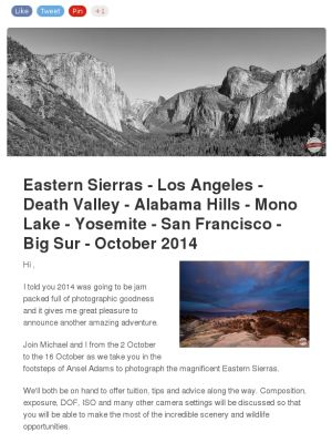 2014 Eastern Sierras Photography Adventure