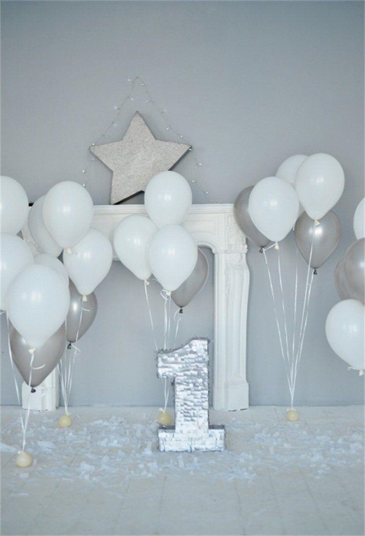 Amazon AOFOTO 6x8ft Baby 1st Birthday Backdrop Balloons Party Decoration Photography Background Kid