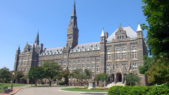 Healy Hall on the main campus of George Washington University in Washington, DC