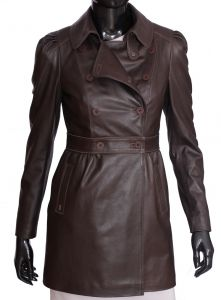 Płaszcz skórzany damski DORJAN D16ELZ
