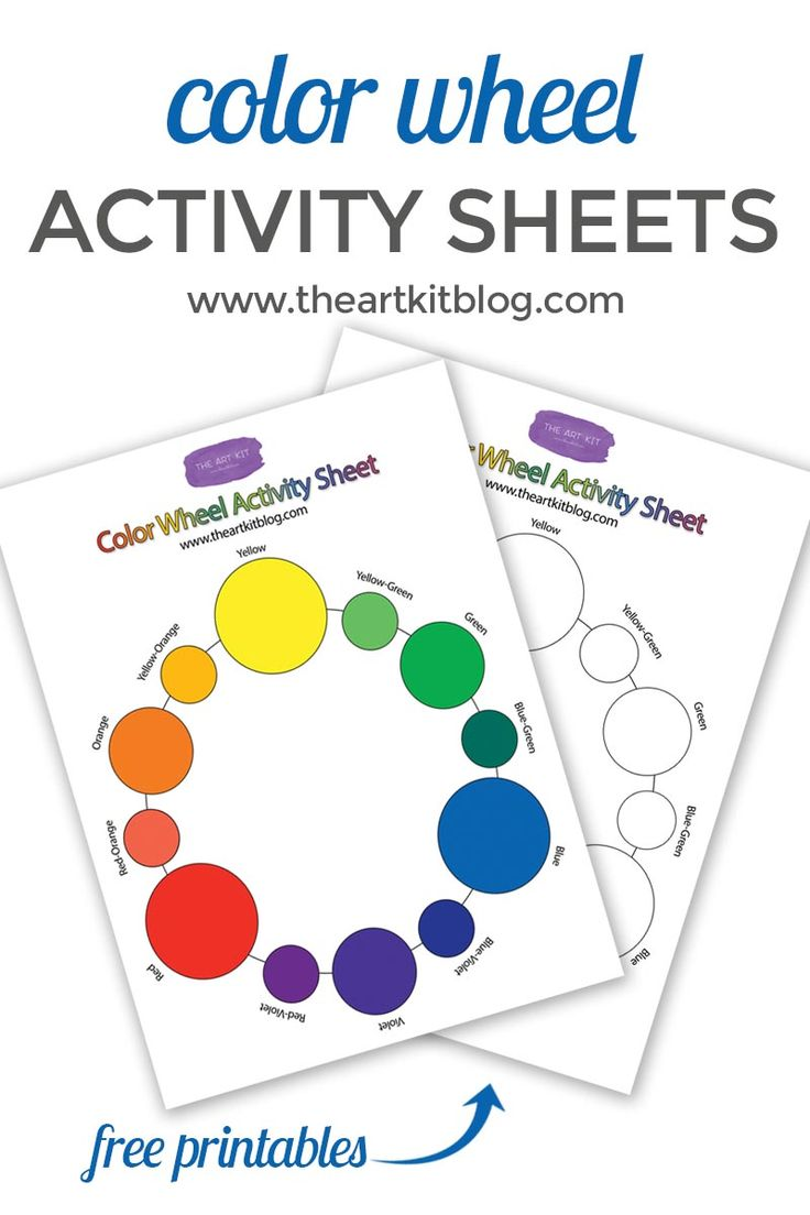 Learn about the color wheel with The Art Kit's exclusive activity sheets! A free printable via @theartkit