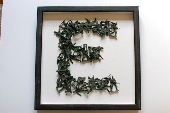 Custom Army Men Figurine Monogram by DowntownDoodler on Etsy, $39.50