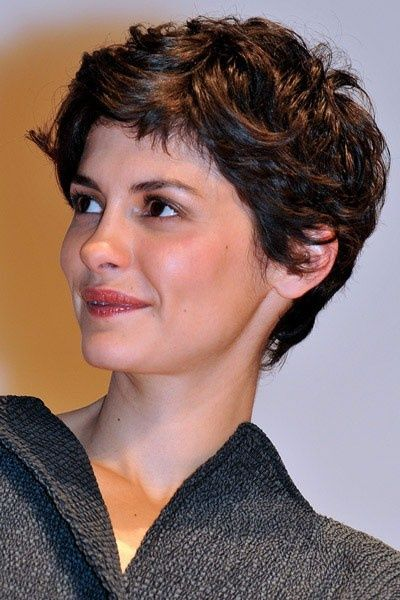 Wavy, thick pixie hair. Wish my hair had curl like ...