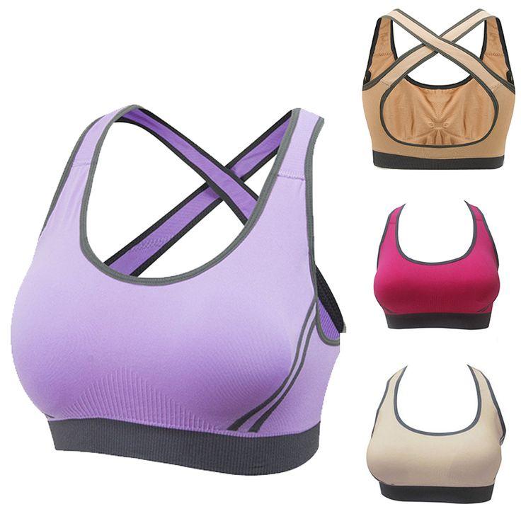 5 colores sport bra para mujeres yoga gimnasio correr deporte Sistema del sujetador de la Ropa Interior de La Muchacha de la Alta Calidad de Nylon Spandex Negro Rojo amarillo