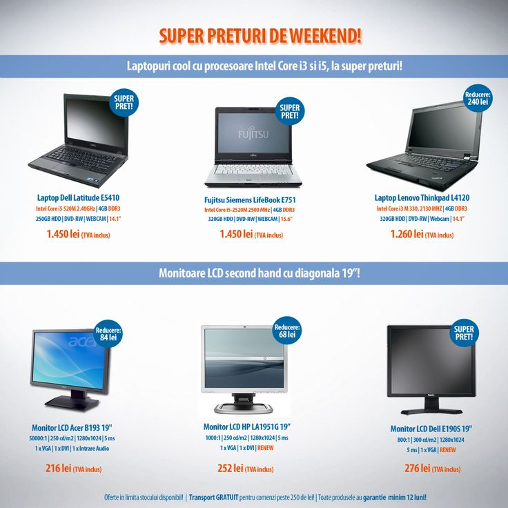 Weekendul acesta avem super preturi la laptopuri si monitoare! Nu rata ofertele Expert Company!