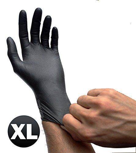 Black Latex Powder Free Disposable Tattoos Piercing Industrial Gloves - Size Extra Large - 95 gloves/Box - http://www.yourdreamtattoos.com/black-latex-powder-free-disposable-tattoos-piercing-industrial-gloves-size-extra-large-95-glovesbox/?utm_source=PN&utm_medium=http%3A%2F%2Fwww.pinterest.com%2Fpin%2F368450813235896433&utm_campaign=SNAP%2Bfrom%2BYour+Dream+Tattoo