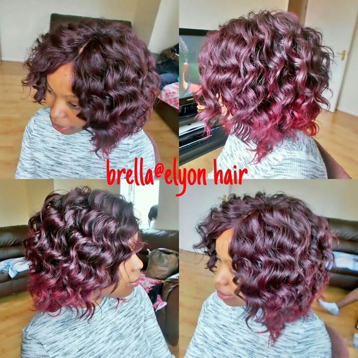Full sew in weave with invisible part