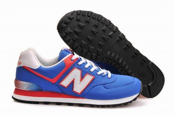Joes New Balance ML574APB Classic Blue Grotto with Orange White Alpine Mens Shoes