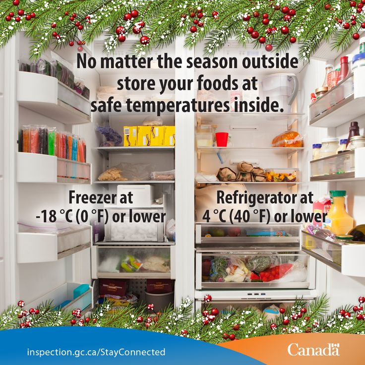 Winter Is Here Canadians Know All About Chilling And Freezing Outside But What Inside Food In Your Fridge Freezer Safely
