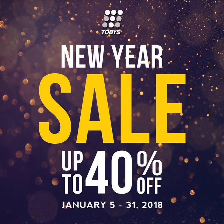 Toby's Sports New Year Sale! CLICK HERE for more details: https://dealspinoy.com/tobys-sports-new-year-sale/ #DealsPinoy