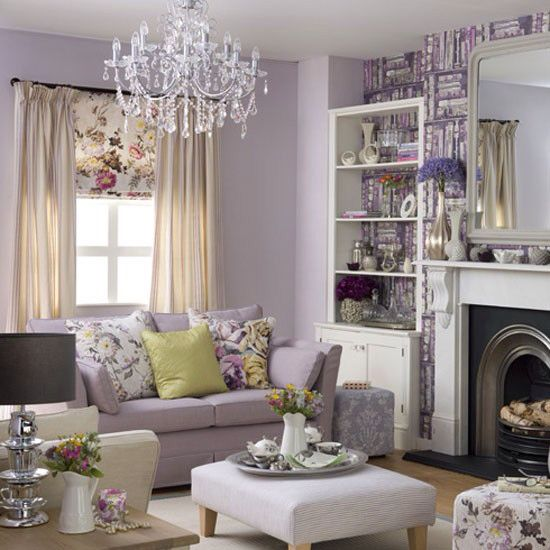 26 Interesting Living Room Décor Ideas Definitive Guide: Lilac Living Rooms, Lavender Living Rooms
