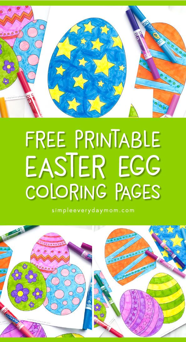 photograph relating to Free Printable Easter Eggs titled Free of charge Printable Easter Egg Coloring Webpages For Little ones Easter
