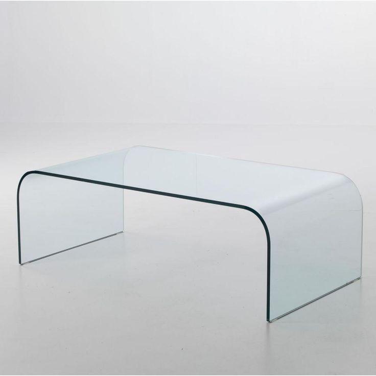Tavolinetto da Salotto in Vetro curvato PONTE Big 110x60xh38 cm spessore 10 mm trasparente | Stilcasa-new | Stilcasa.Net: tavolini da salotto