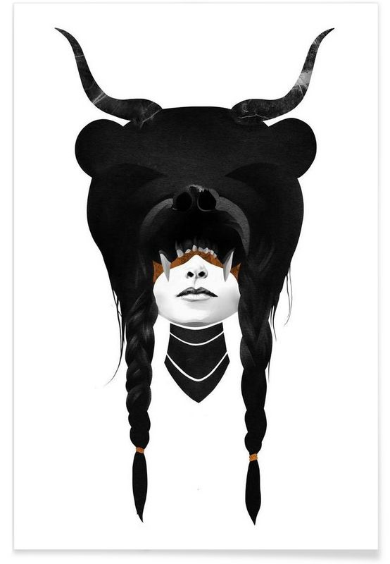 Bear Warrior als Premium Poster von Ruben Ireland | JUNIQE