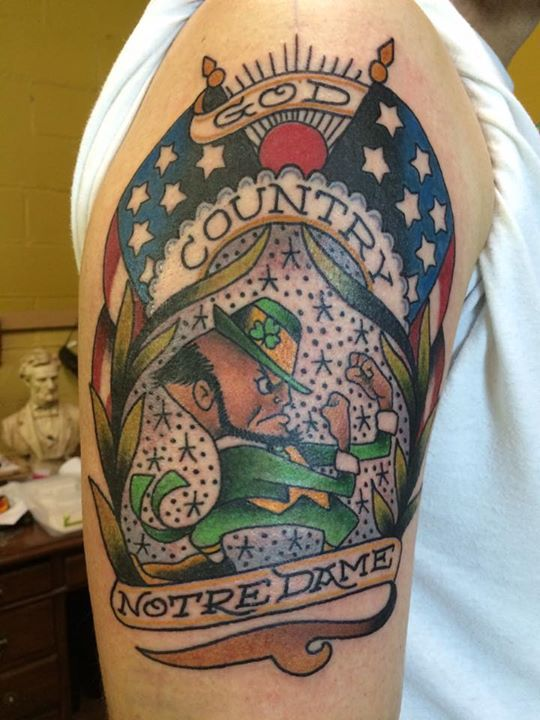 44 best tattoos images on pinterest tattoo designs for Notre dame tattoos