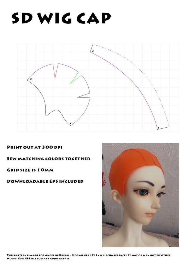 Четыре части Cap парик для SD (без клея) по BloodyKylie