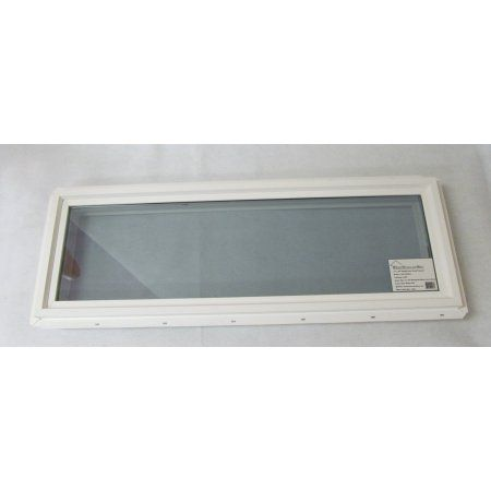 Transom Window 12 X 36 Double Pane Tempered Low E Glass Pvc Frame Transom Windows Windows Shed Windows