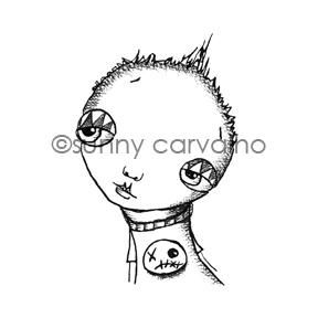 Sunny Carvalho | SC7048F - Scully Shirt - Rubber Art Stamp