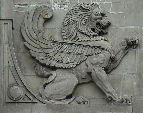 Gryphon   Stone Gryphon ornament on a building at Wacker Dri…   Flickr