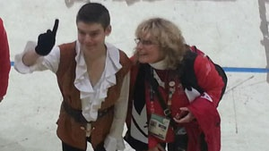 Michael Sumner, 16, of Whitehorse, won a silver medal in figure skating Thursday at the Special Olympics World Winter Games in PyeongChang, South Korea.