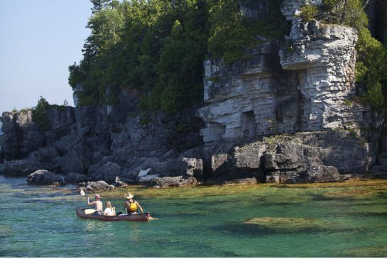 Because of the treacherous shoals and shifting weather, this part of Lake Huron is littered with more than 30 wrecks, a dozen of them great for snorkelling. Folks who don't want to dive the waters of Tobermory can always float on top. It's a magical area for canoeing or kayaking.