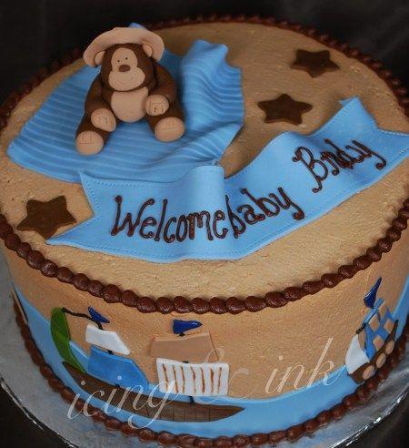 Monkey Baby Shower Cake Images