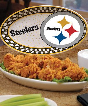 This Pittsburgh Steelers Game Day Ceramic Platter by The Memory Company is perfect! #zulilyfinds