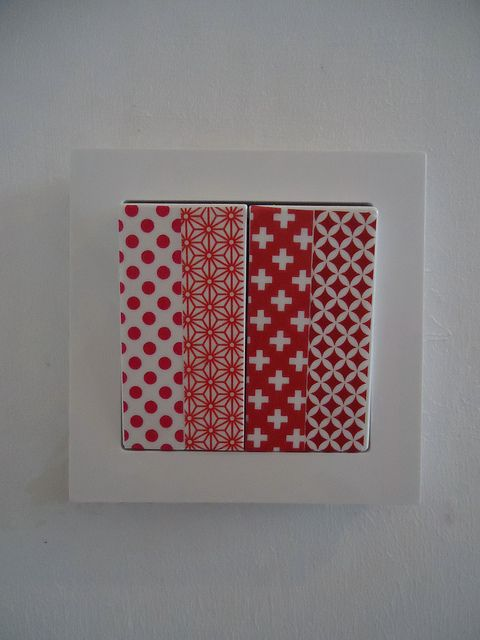 Masking tape on switch