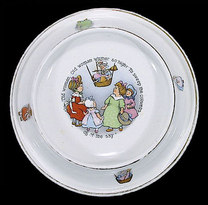 17 Best Images About Antique Baby Dishes On Pinterest