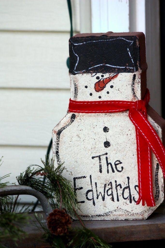paver snowmen~ I could do that! :D