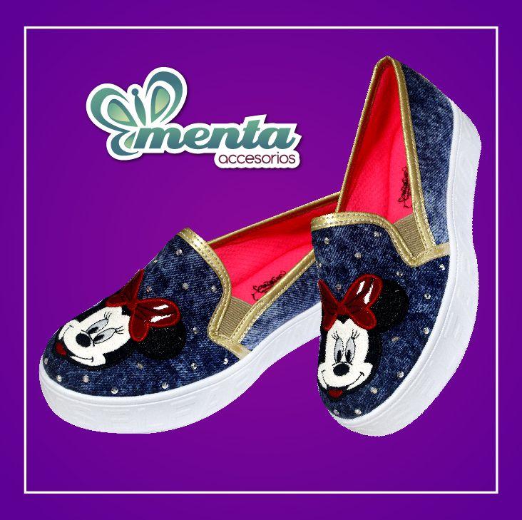 Un estilo casual acompañada de   #minnie  #mickey #mouse #calzado #alpargatas #menta #zapatosbajitos #tabu #mytabu #cali #shoes #casual
