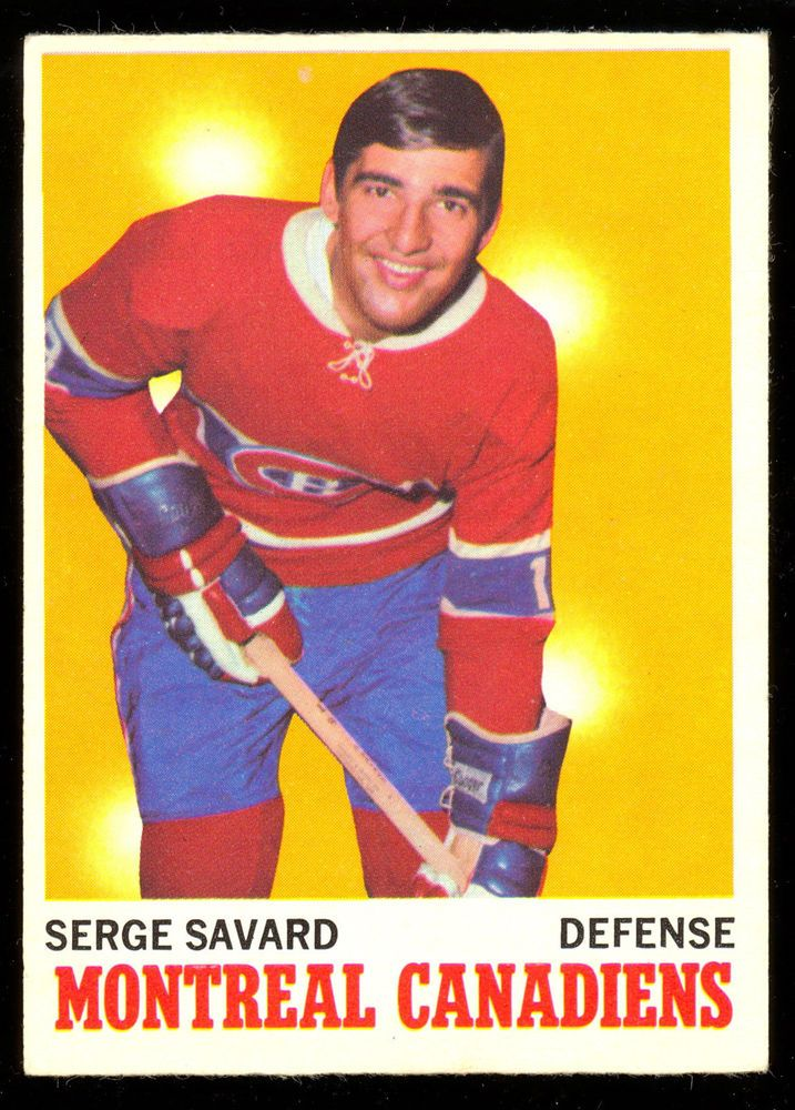 1970 71 Topps #51 SERGE SAVARD EX-NM MONTREAL CANADIENS HOCKEY CARD #MontrealCanadiens