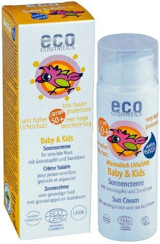 Eco Cosmetics Crème solaire babysun LSF/SPF50+ Grenade et Argousier 50ml: Grenade et argousier Notre gamme Baby & Kids contient les…