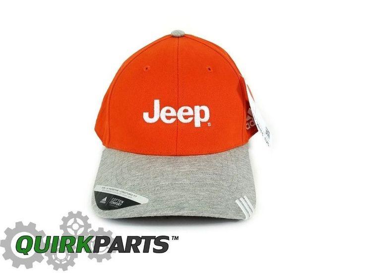 JEEP ADIDAS ORANGE PREMIUM ADJUSTABLE CAP HAT BRAND NEW #Mopar