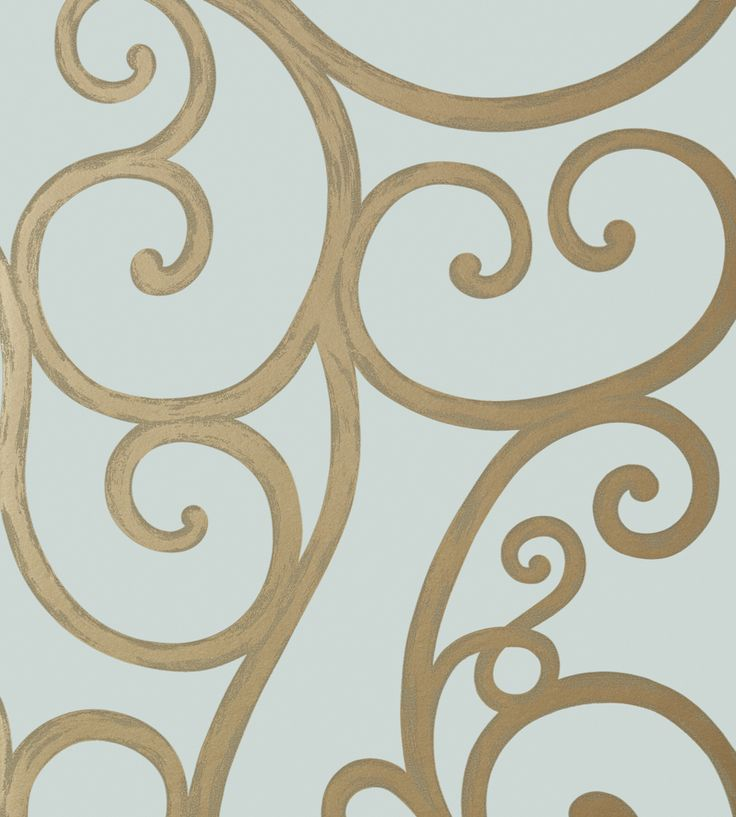 Palace Gate - Gold on Aqua wallpaper, from the Seraphina Wallpaper collection by…