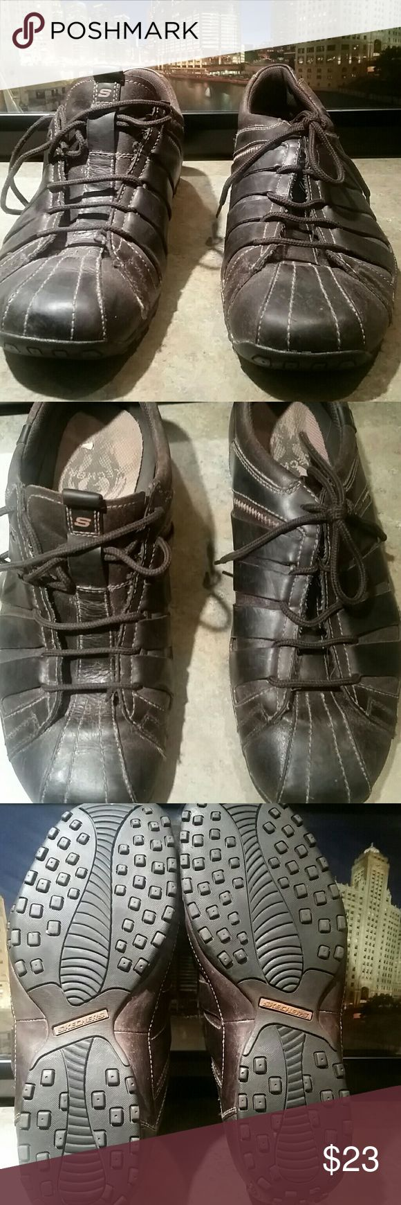 sketchers brown athletic casual shoes size 13