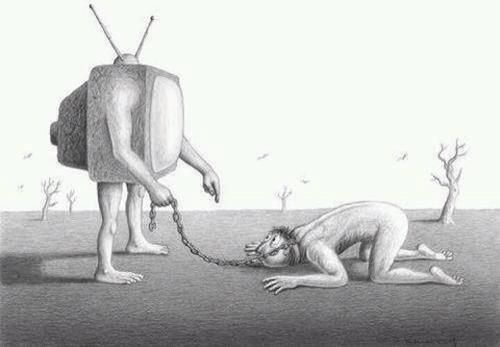 Media Slavery. Stop letting your tv tell you how to live your life.