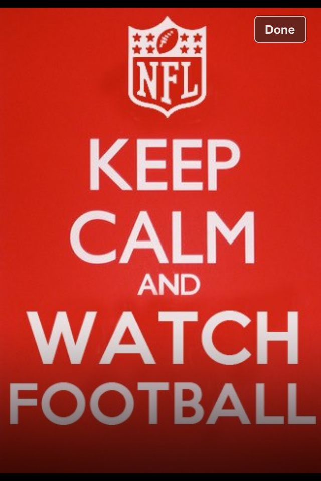 There is no keeping calm when watching football,because refs can't call right.