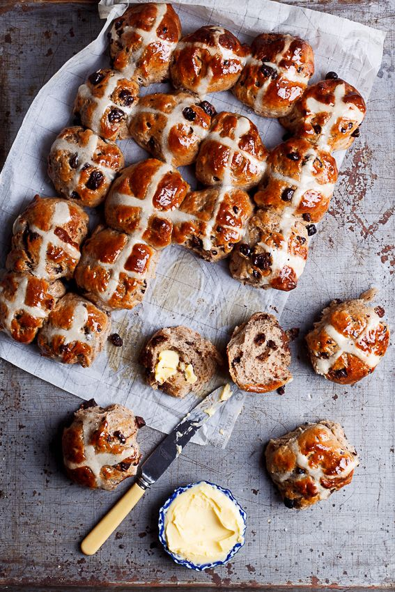 There's nothing better than straight-from-the-oven hot cross buns slathered in butter.