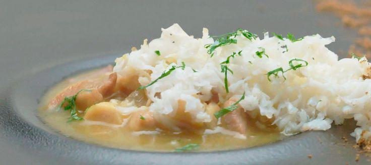 Julio Mirallesha elaborado 'Pollo pepitoria, curry y grammasala' en la prueba de 'última oportunidad' para continuar en 'Top Chef'.