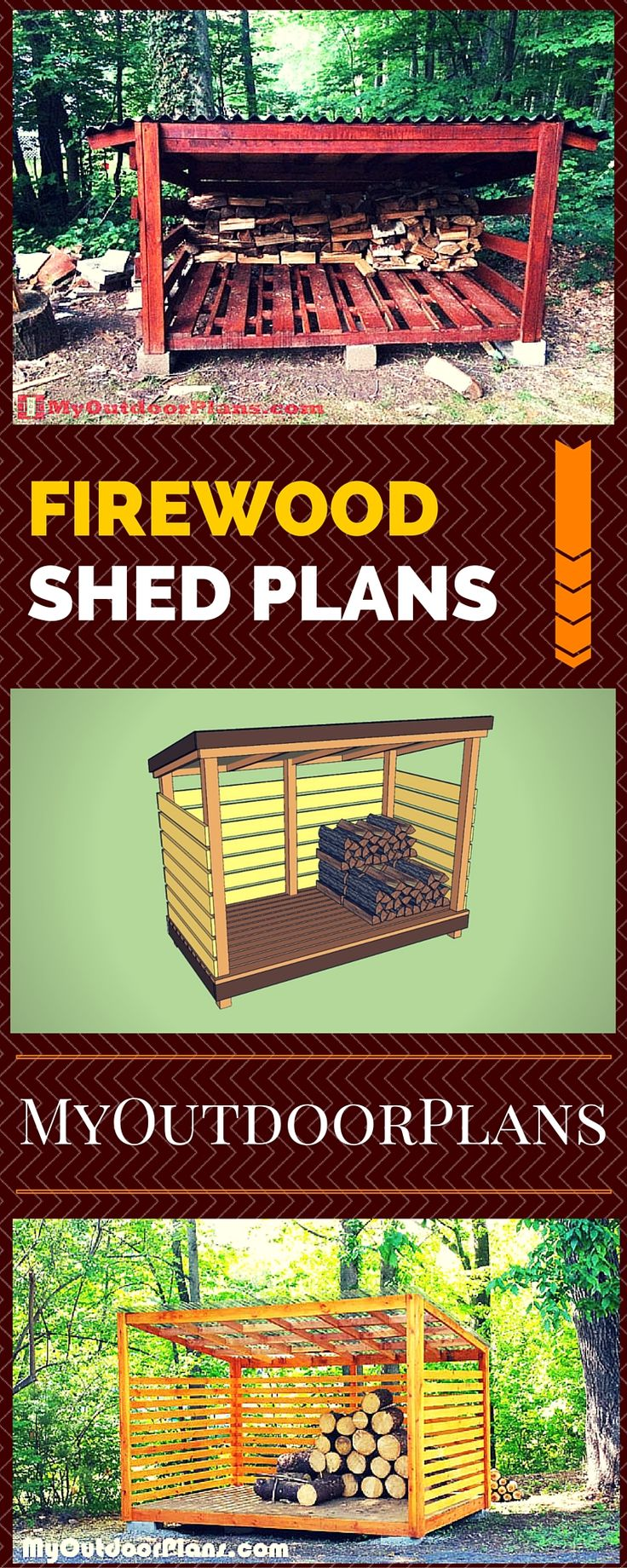 Firewood Shed Plans - Easy to follow instructions, ideas and guides for building a wood storage shed
