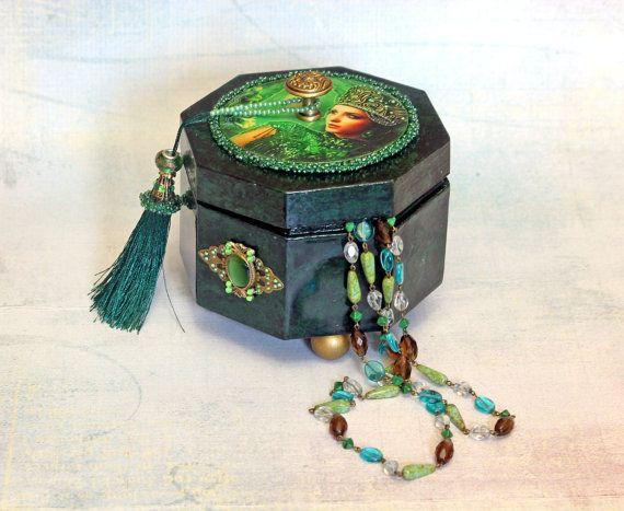Decoupage handmade jewelry boxes Jewellry box by Decoupagemiracles