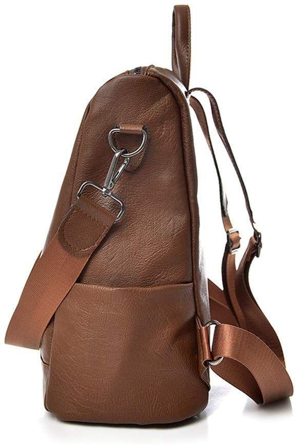 mochila de cuero Marrón olsos de Hombro bolsa de mano de moda para mujer   Amazon 5243cea2192