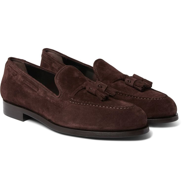 <a href='http://www.mrporter.com/mens/Designers/Paul_Smith'>Paul Smith</a>'s tasselled loafers have a gentlemanly feel about them. Crafted in Italy from smooth chocolate suede, they're constructed with discreet Blake stitching for a clean, elegant profile. The padded footbed is printed with the brand's signature multicoloured striping.