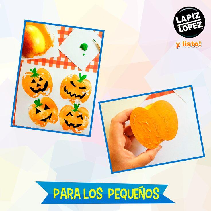 Todos pueden divertirse en Halloween ¡Anímate a realizar sellos de calabaza!